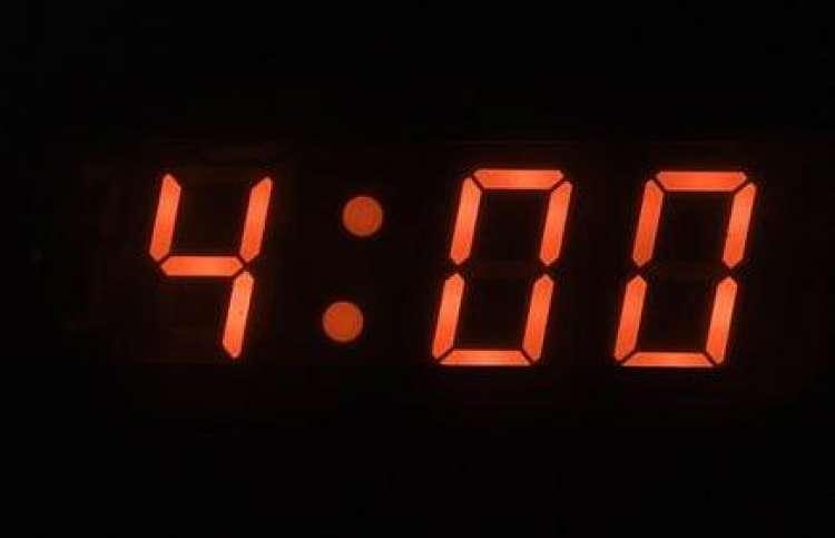 Um 4 Uhr morgens